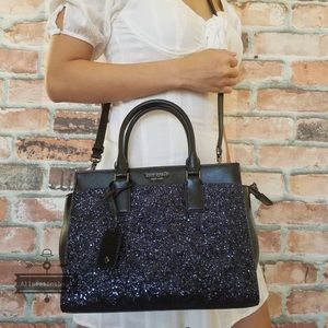 Kate spade Cameron MEDIUM satchel glitter BLUE Bag